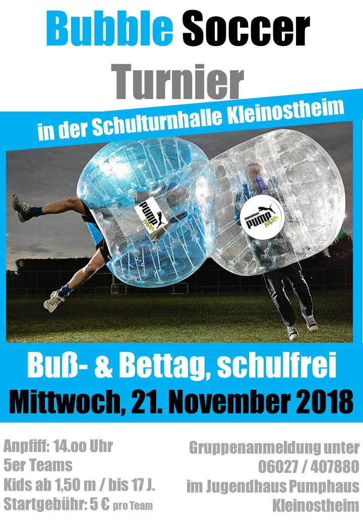 Bubble Soccer Turnier 2018